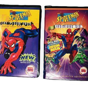 RARE Vintage Marvel Spider-Man VHS Lot